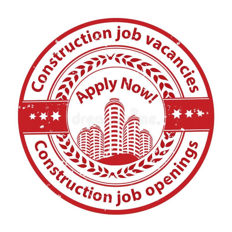 工作机会-可利用建筑的工作-工作广告/工作 向量例证