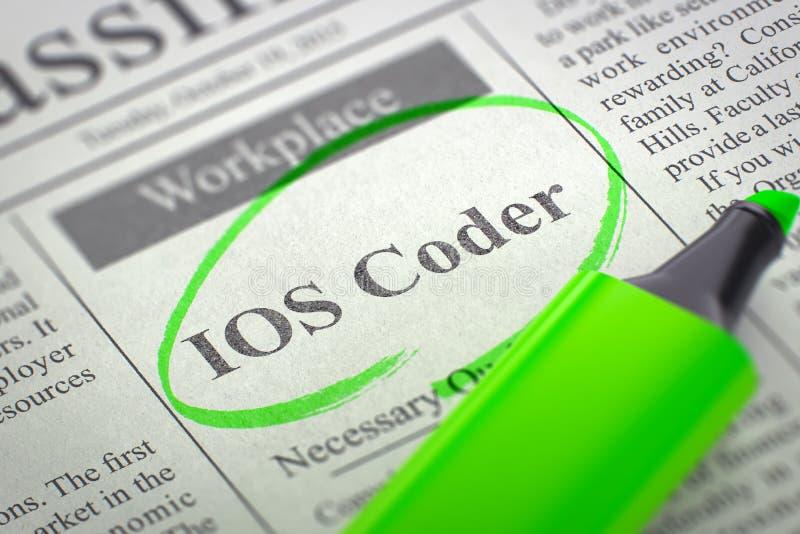 工作机会IOS编码人 3d 库存照片