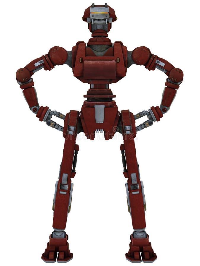工作机器人 皇族释放例证