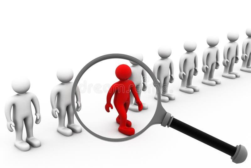 工作查找和事业选择就业 向量例证
