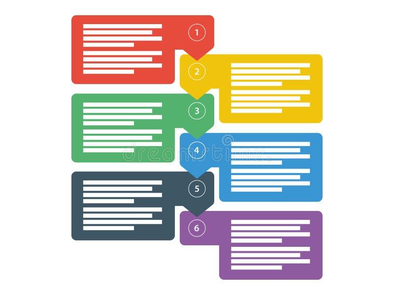 工作流企业数据介绍图 infographic的要素 向量图形模板 向量例证