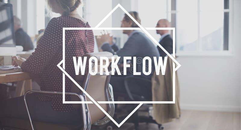 工作流程成功组织策略步概念 免版税库存照片