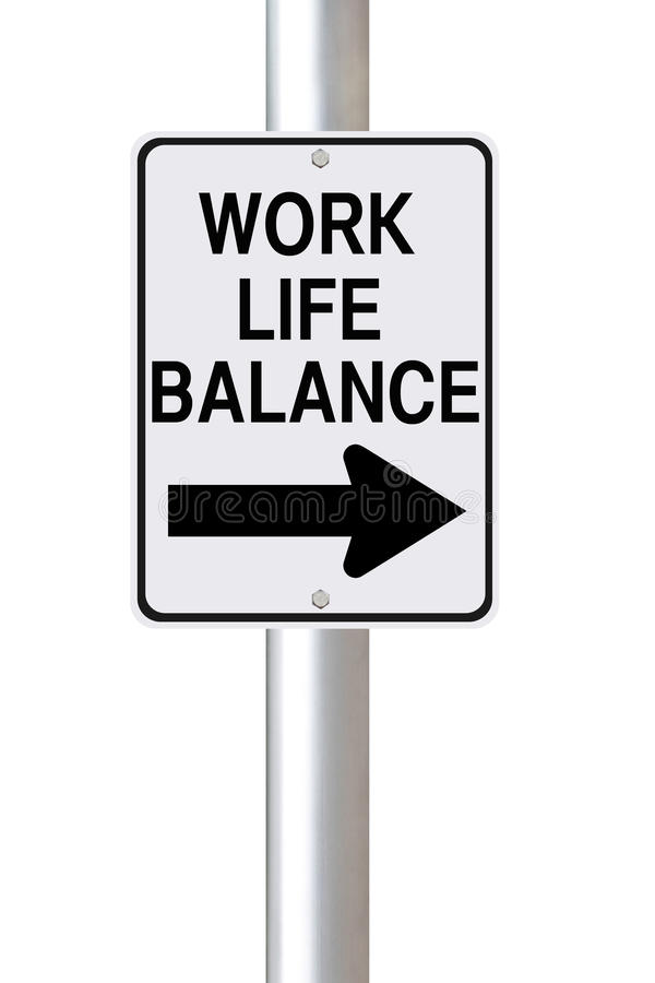 工作生活平衡这样 库存图片