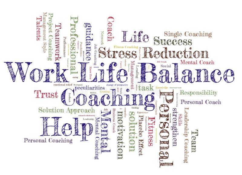 工作生活平衡词云彩 向量例证