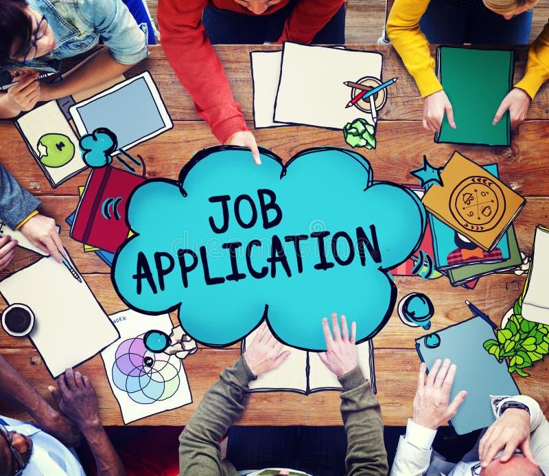 工作申请书事业聘用的就业概念 库存照片