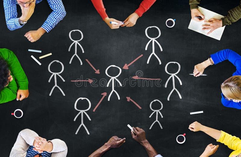 工作的人们和领导概念 免版税库存照片