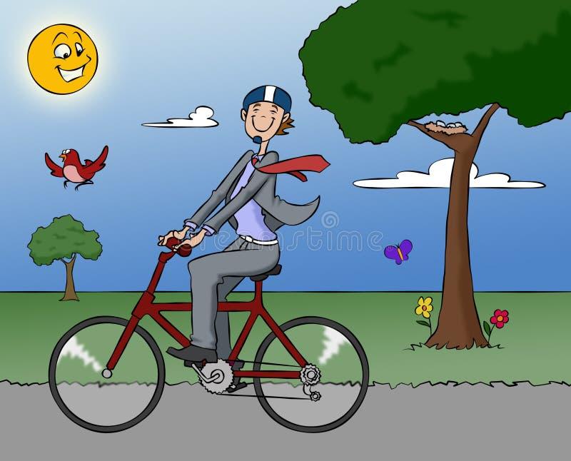 工作的自行车 免版税库存照片