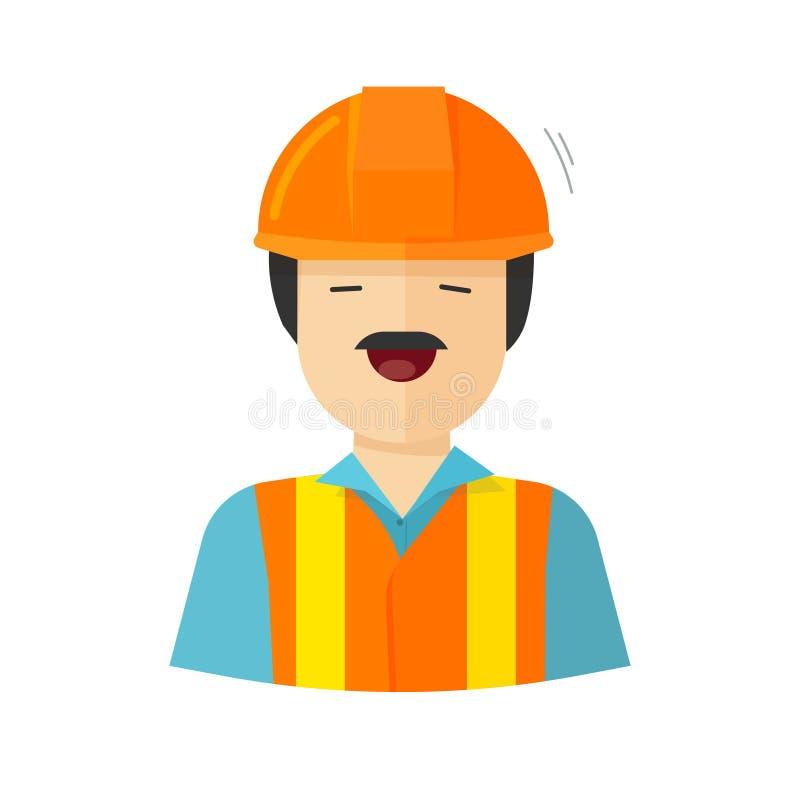 工作者传染媒介例证,建筑建造者字符,工作员愉快的面孔 安装工 向量例证