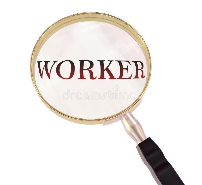 工作者扩大化 库存例证