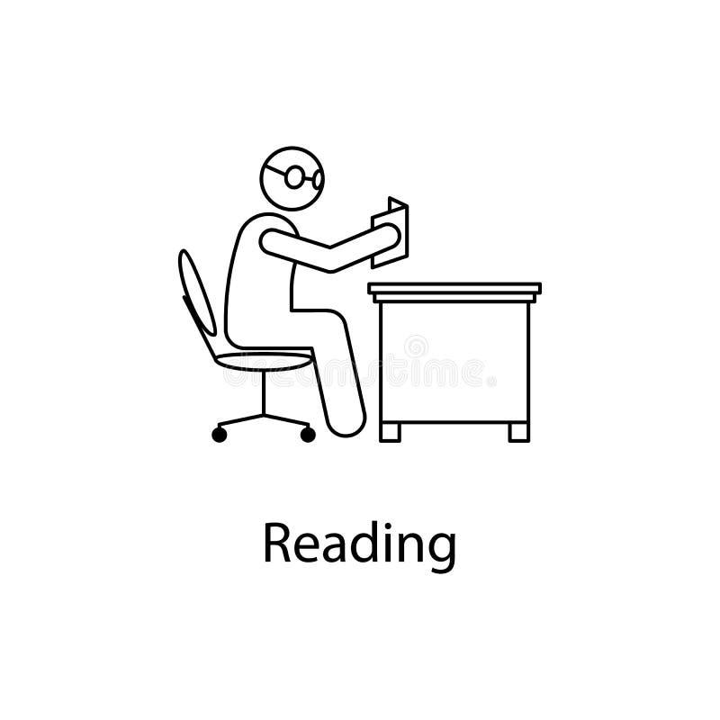 工作者读象 在一台计算机前面的元素人在流动概念和网apps的工作场所 我们的稀薄的线象 库存例证