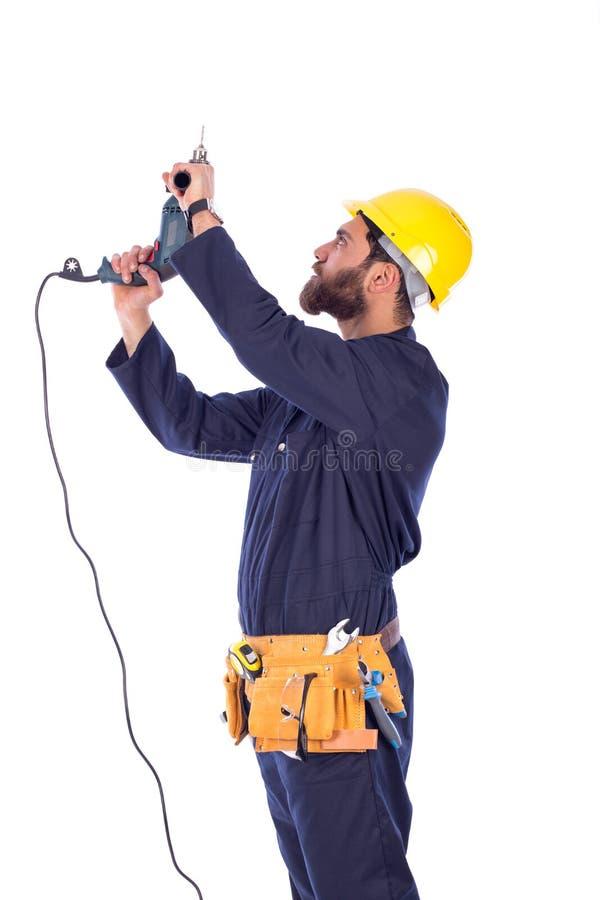 钻工作者年轻人 免版税库存照片