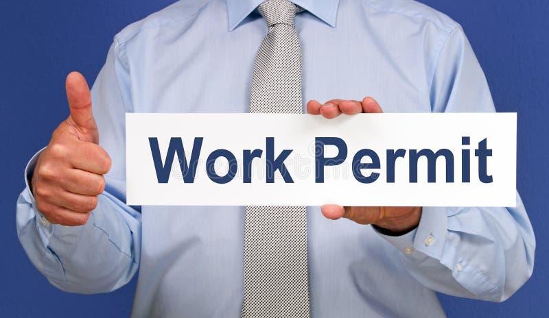 工作许可 免版税库存照片