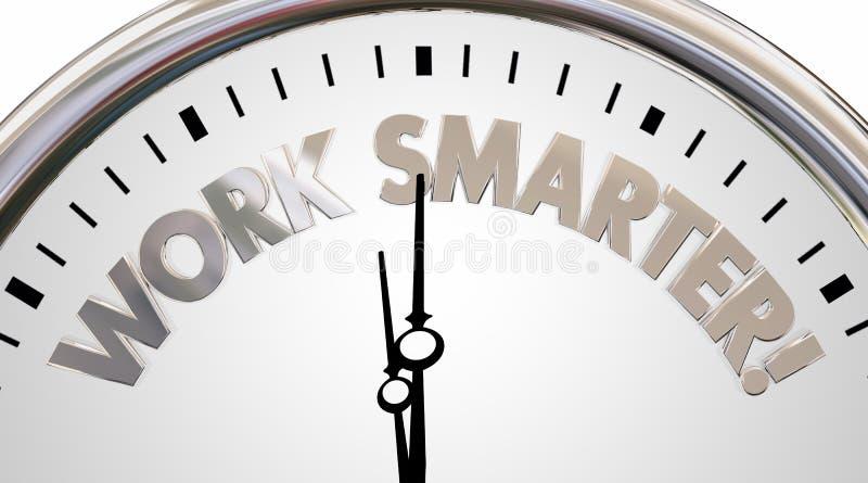 工作更加巧妙的时钟保存时间效率词3d例证 皇族释放例证