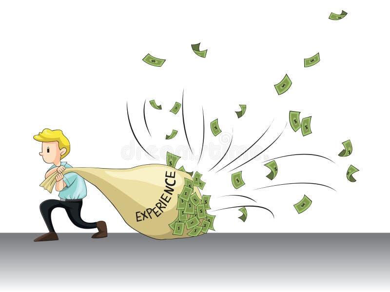 工作经验吸引现金(传染媒介) 库存例证