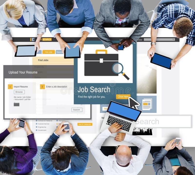 工作Serch事业补充职业事业概念 免版税库存图片