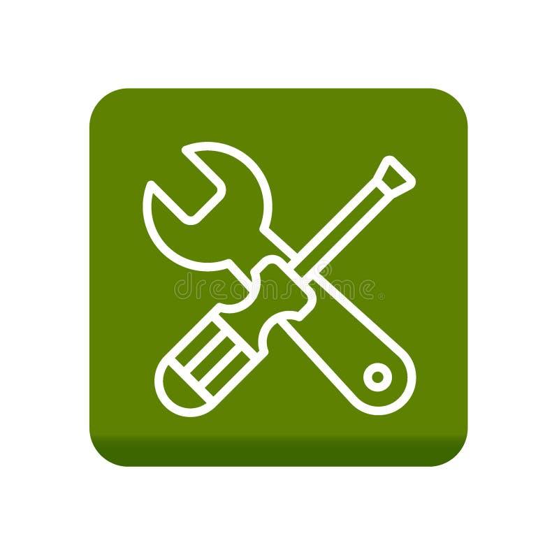 工具为设置象服务 皇族释放例证