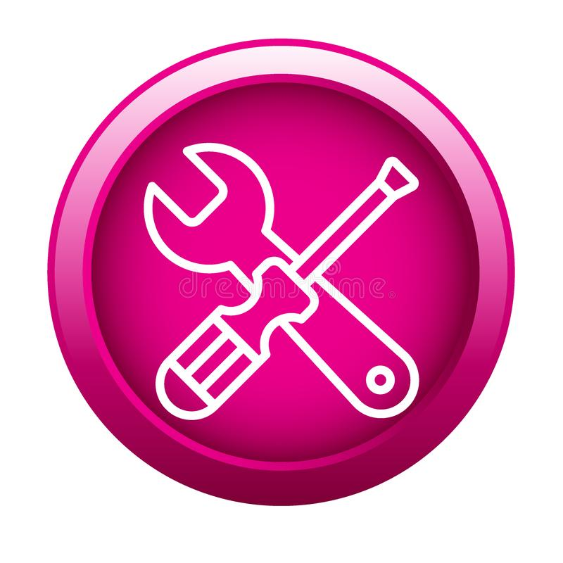 工具为设置象服务 库存例证