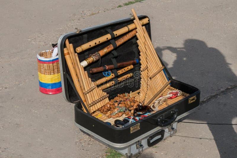 工具在手提箱 免版税库存照片