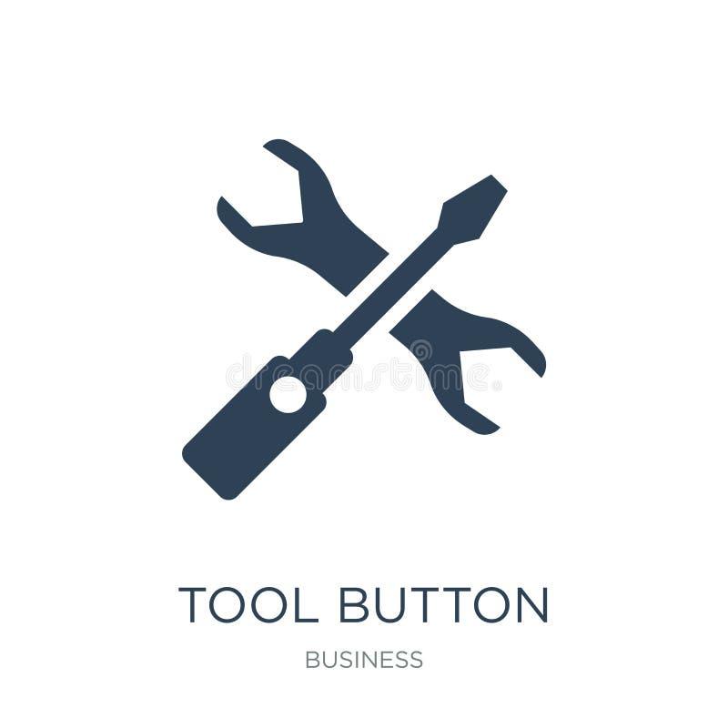 工具在时髦设计样式的按钮象 工具在白色背景隔绝的按钮象 工具按钮现代传染媒介的象简单和 向量例证