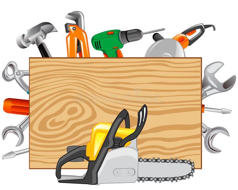 工具木匠和金属工艺 库存例证