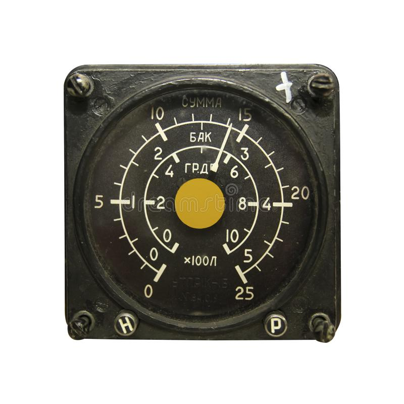 工具直升机燃料传感器 免版税库存图片