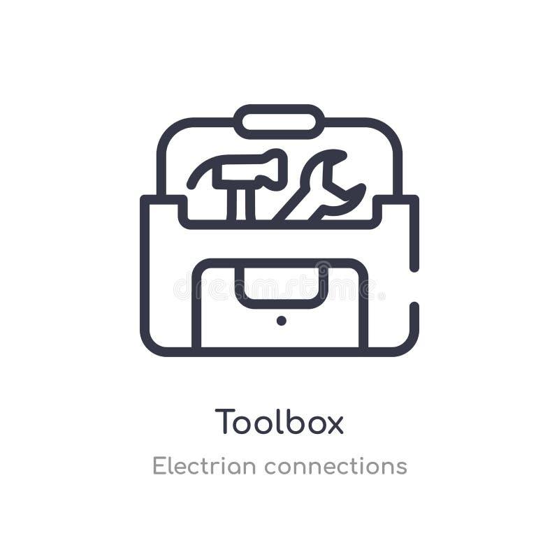 工具箱概述象 r 编辑可能的稀薄的冲程工具箱象 向量例证