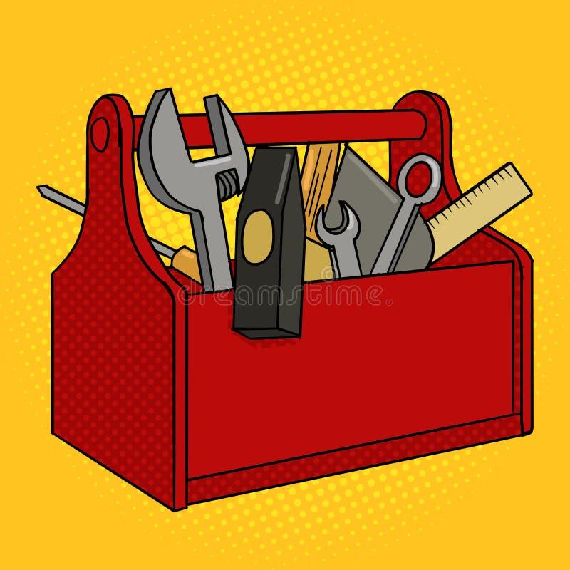 工具箱红颜色流行艺术样式传染媒介 皇族释放例证