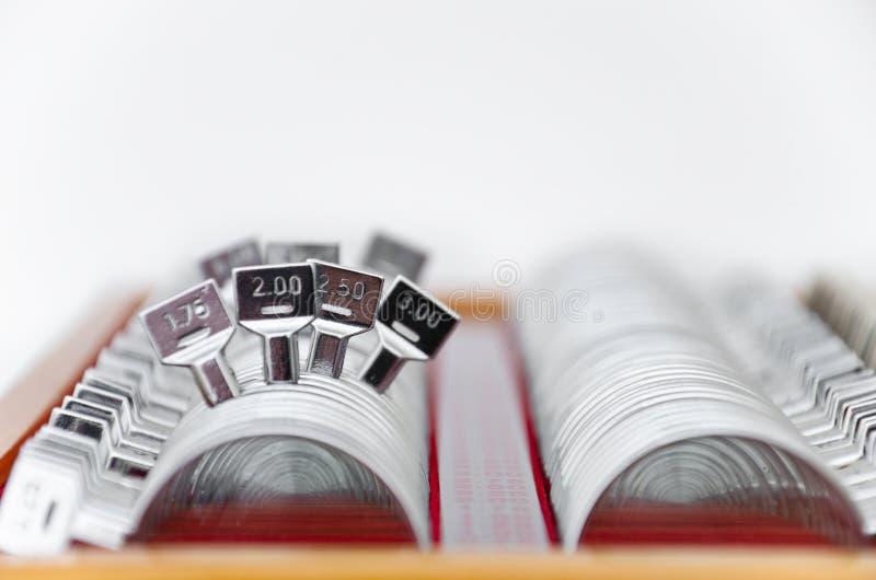 工具箱透镜试算 免版税库存图片