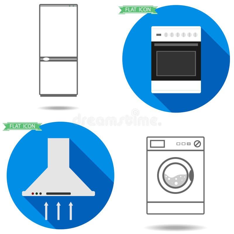 工具背景例证厨房白色 皇族释放例证