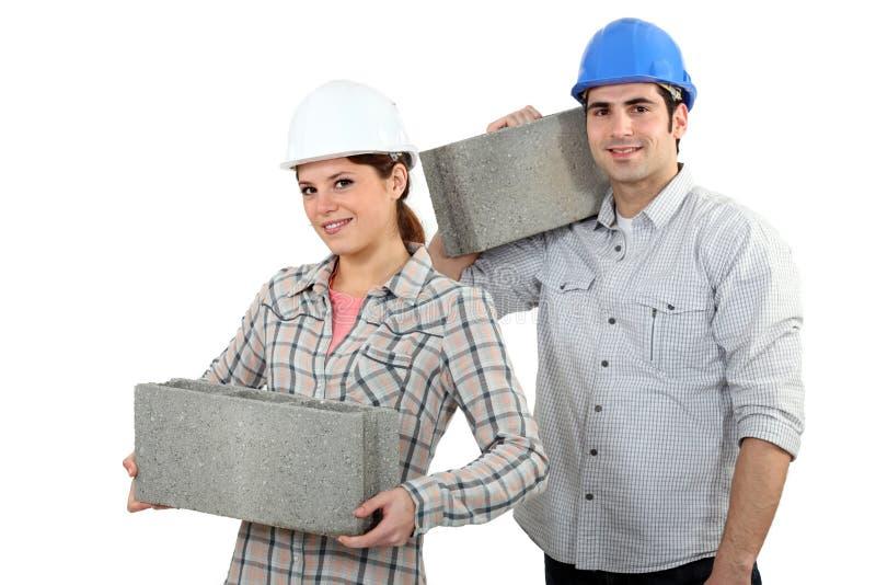 工匠和女工匠 图库摄影
