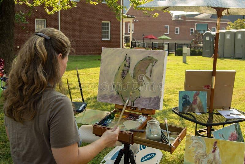 """工匠绘画†""""萨利姆,弗吉尼亚,美国 图库摄影"""