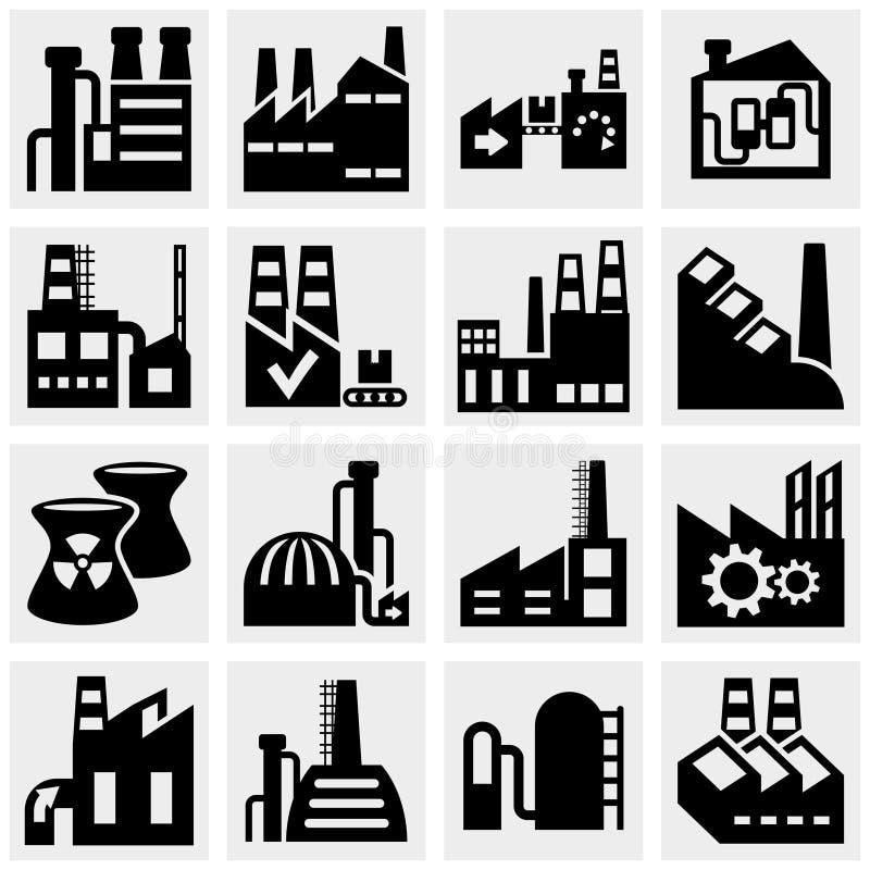 工厂、能源厂、工厂厂房和po 向量例证