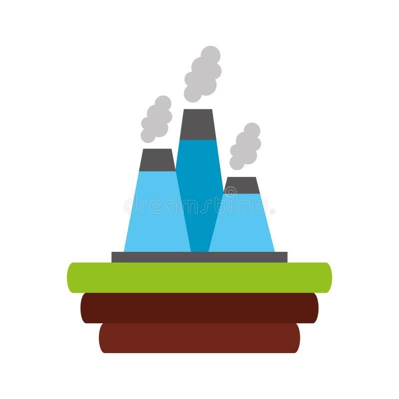 工厂产业烟囱象 向量例证