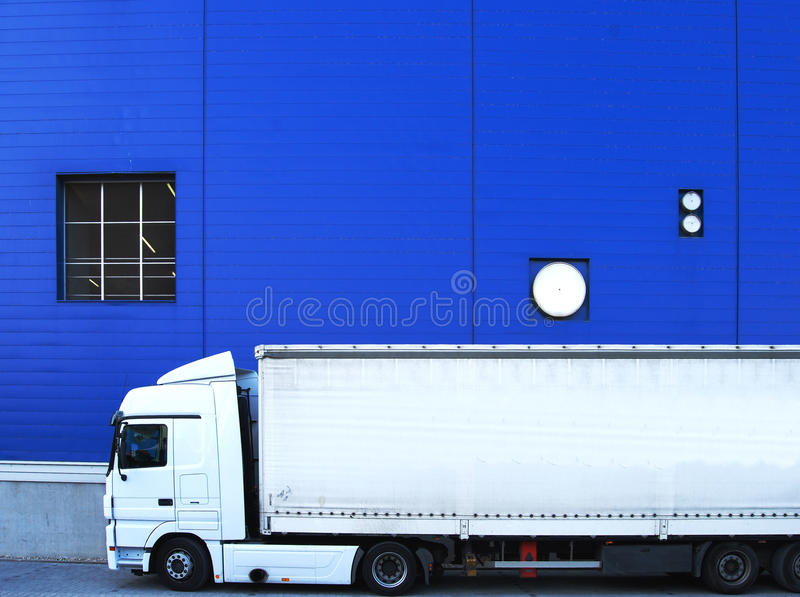 工厂卡车白色 图库摄影