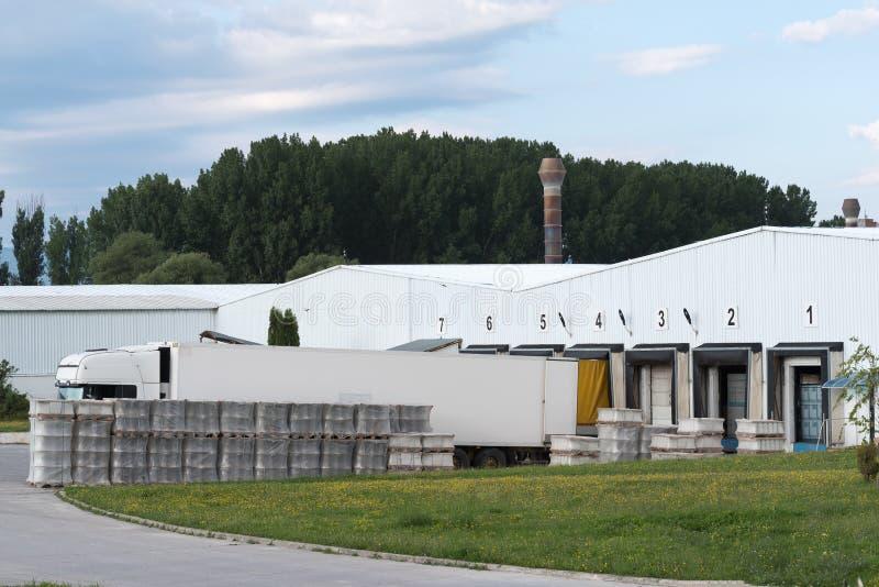 工厂和后勤学中心 库存照片