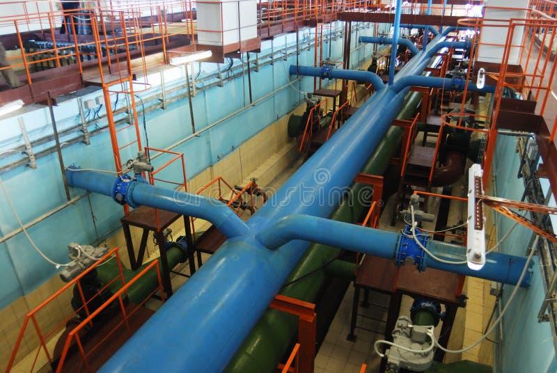 工厂处理水 免版税库存照片
