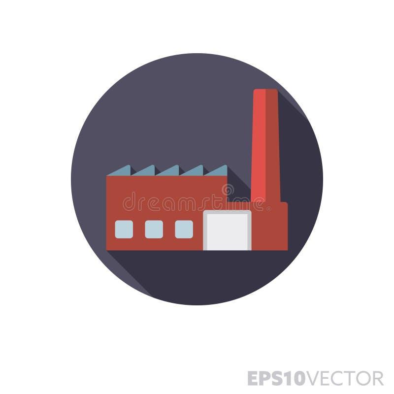 工厂平的设计长的阴影颜色传染媒介象 皇族释放例证