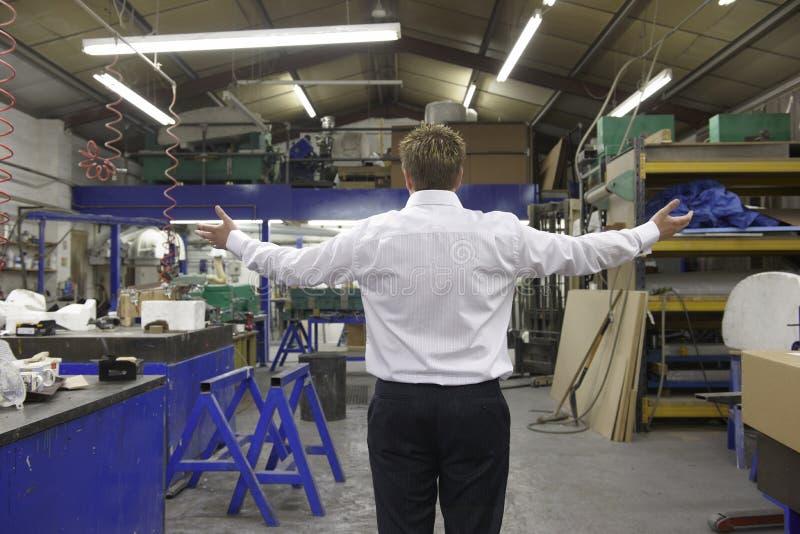 工厂摄象现场主管 免版税库存图片