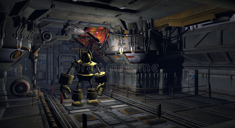 工厂机器人 向量例证