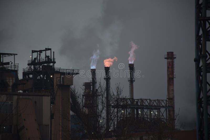 工厂气体处理 库存照片