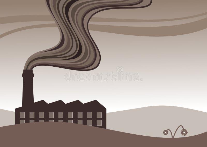 工厂污染 皇族释放例证