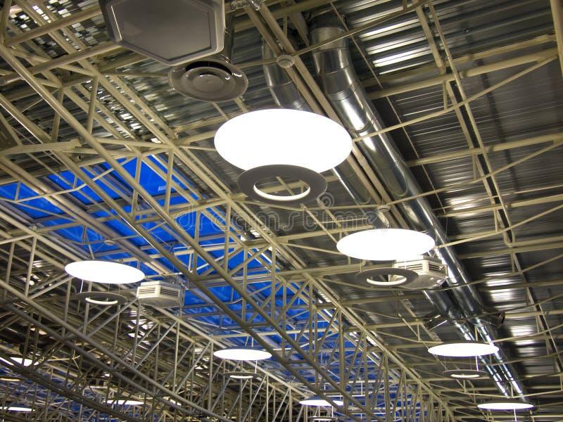工厂现代屋顶 图库摄影