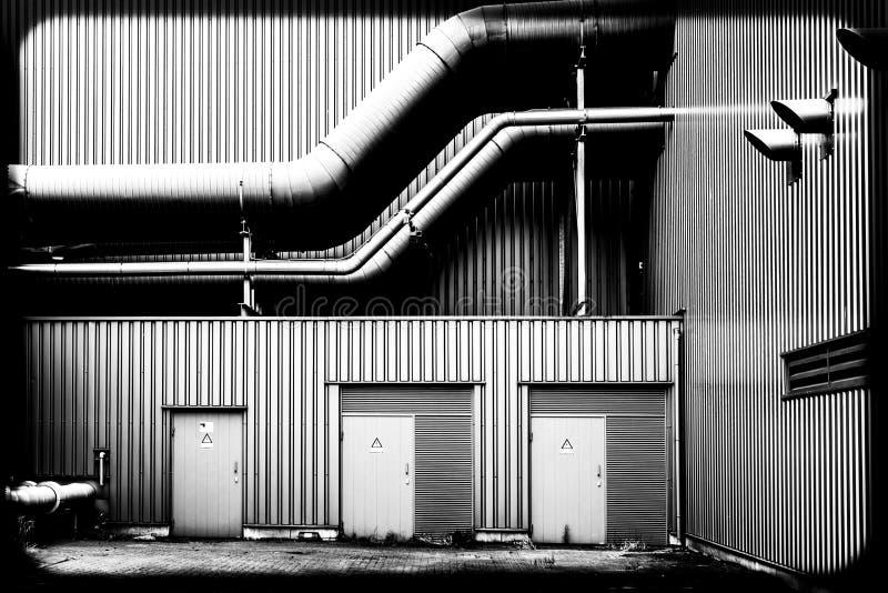 工厂的管子 免版税库存照片