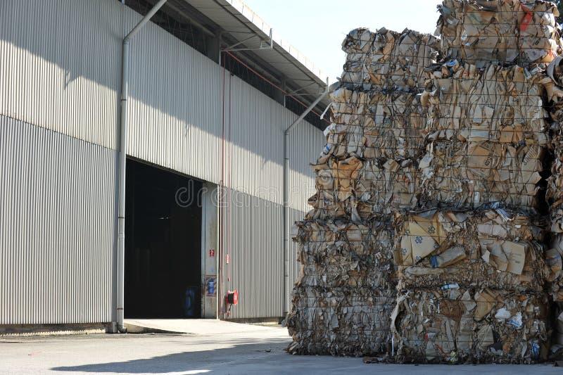工厂纸张回收 免版税库存图片