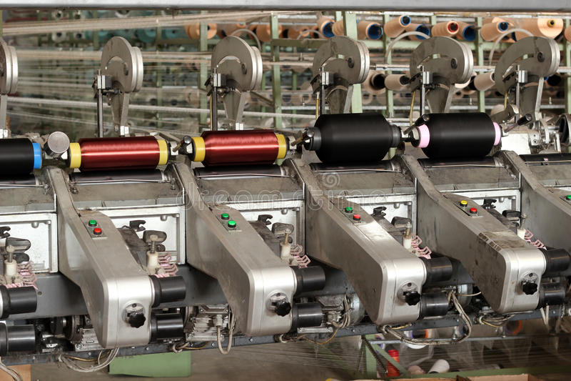 工厂纺织品 免版税库存图片