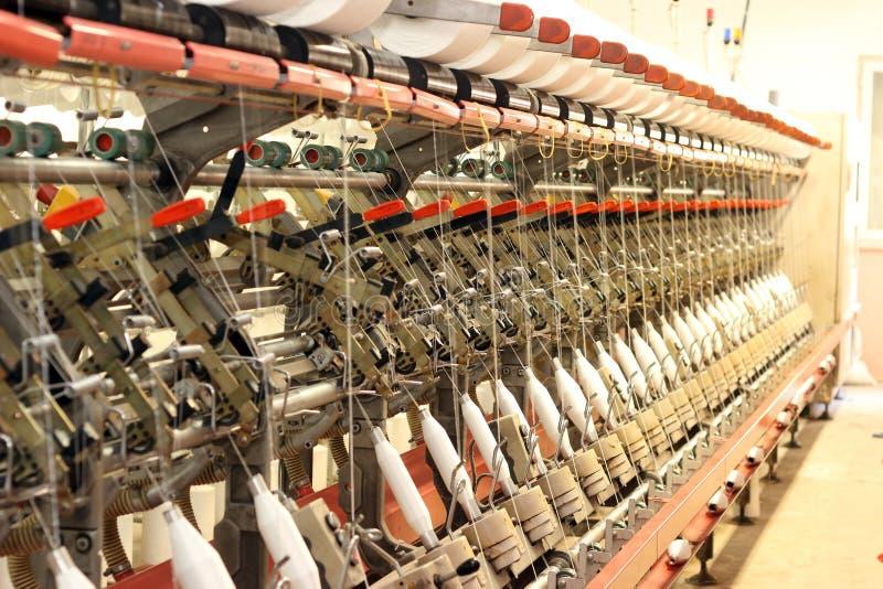 工厂纺织品 库存照片