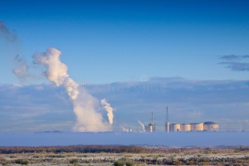 工厂草原横向冬天 免版税库存照片