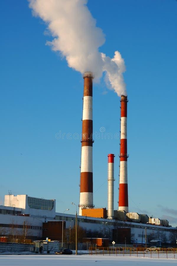 工厂蒸汽 图库摄影