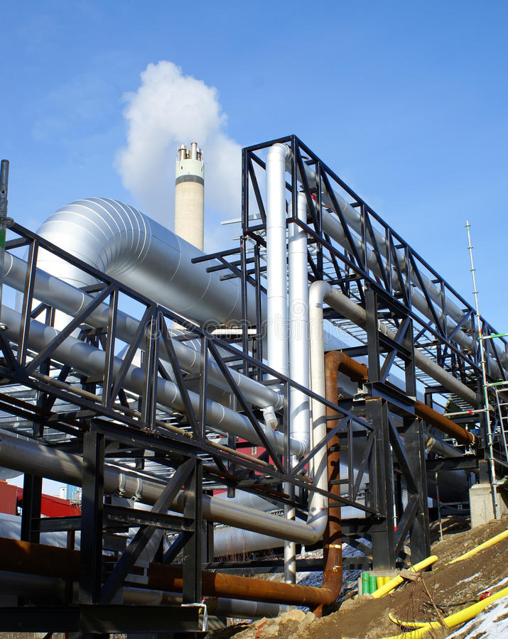 工厂行业传递钢 免版税库存图片