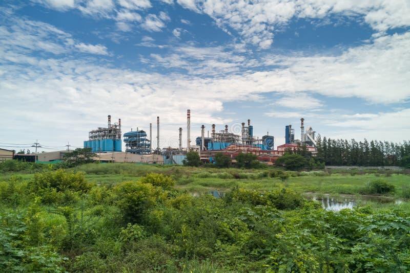 工厂设备制造谷氨酸 库存照片